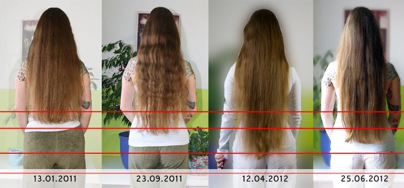 Haare wachsen 5 cm im monat
